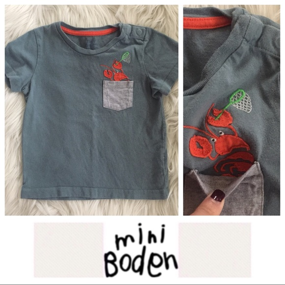 bee9af889 Mini Boden Shirts & Tops | Baby Boden Lobster Tee | Poshmark